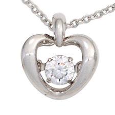 Echtschmuck-Halsketten aus Sterlingsilber mit Herz-Schliffform für Damen