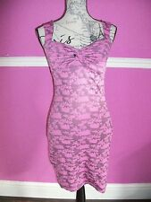 JANE NORMAN Pink Floral Twist Ruched Knot Bust stretch Bodycon party Dress 8 10
