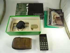 Vintage Hewlett Packard HP-25C Scientific Calculator Computer w/ Box & Accessory