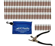 100 Each C18 Cleco Fasteners Made In Usa With Cleco Pliers Amp Pouch