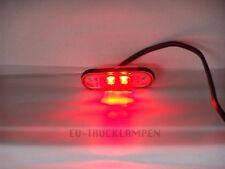 LED UMRISSLEUCHTE -MIT SOCKEL - EINBAUVARIANTE-  ROT - 78x22mm 12/24