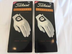 Titleist Players Finest Cabretta Leather Golf Gloves (2) Women's RH Large NEW
