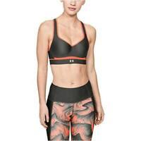 Under Armour Women's Warp Knit High Impact Bra, Black, Silver, Size 34DD wVPl