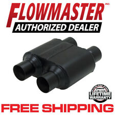 "Flowmaster 8425154 Super 10 Muffler 2.5"" Dual Inlet/Dual Outlet 409S Stainless"