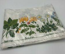 New Vintage Swedish Flowers of Sweden Scandinavian Kitchen Tea Towel