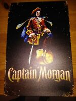 "Classic Captain Morgan Spiced Gold Retro Tin Metal Sign 8/"" x 12/"" Beer Cafe Sign"
