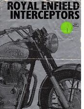 1967 Royal Enfield 750 Interceptors original sales brochure(Reprint) $9.00