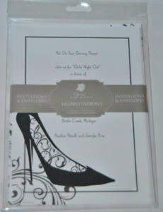 Great Papers Black & White High Heel Shoe Invitations & Envelopes, 10 Count