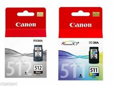 1 X PG512 BLACK + 1 X CL511 COLOUR PIXMA MP490 MP492 Original Inkjet Cartridge