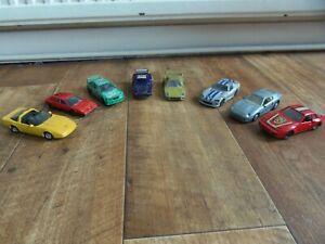MAISTO & BURAGO JOBLOT OF BMW, FERRARI & PORSCHE DIE CAST CARS