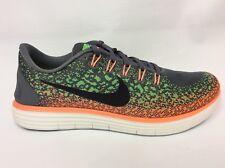 9637b47c6722ef Nike Free Run Distance Running Shoes Mens US Size 9 D Gray Orange Green