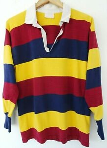VTG 90s Striped Elastic Waist Polo T Shirt Gray White 1990s Vintage Large L