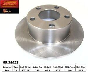 Disc Brake Rotor-FWD Rear Best Brake GP34023