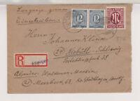 Bizone/AM-Post, Mi. 33b MiF 920/Paar, Not-R-Stadthagen - Niebüll, 21.6.46