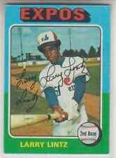 Autographed 1975 Topps Larry Lintz - Expos