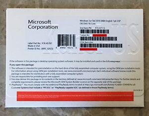Microsoft Windows Server 2016 Standard 64 bit OEM DVD 16 Core Genuine –P73-07113