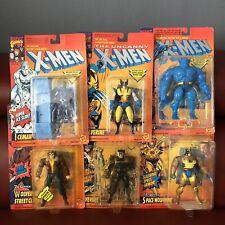 The Uncanny X-Men Wolverine Iceman BEAST  Marvel Comics Action Figures Lot Of 6