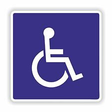 1x Disabled Sticker Blue Vinyl Badge Car Truck Vehicle Laptop Tablet Door Home