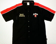 JIM BEAM AUTHENTIC BEAM WHISKEY MEN'S BLACK & RED STRIPES PIT SHIRT SIZE SMALL