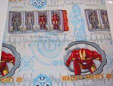 Ironman 2 Hall of Armor Twin Flat Sheet 63x93 Marvel Iron Man Fabric Material