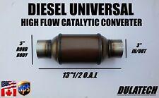 Diesel Universal High Flow Catalytic Converter 5 Round Body 3 Inout 25g Load