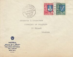 Estland, Estonia Brief zum Belgischen Konsulat