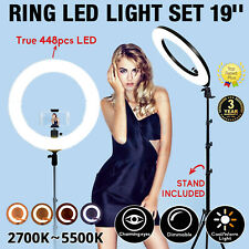 ZOMEI LED Ring Light Dimmable Lamp with Stand Photography Lighting Youtube Live