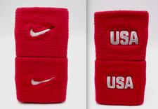 "Nike Dri-Fit Wristbands Usa University Red/White 3"" Men's Women's"