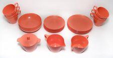 Lot 25 Pieces Vintage Melmac (mix Brand) Melamine Retro Dinnerware Orange Dishes