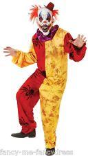 Uomo HORROR PAGLIACCIO DEL CIRCO spaventosa Costume Halloween Taglia unica