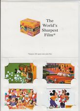 Phonecards 1994 Singapore Disney Mickey Mouse set of 4 by Kodak in original pack