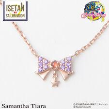 NEW Samantha Tiara × Sailor Moon Ribbon Rhinestone Necklace Mars Limited Edition