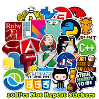 Developer, Programmer 108x Stickers of Programming Languages and Internet Brands