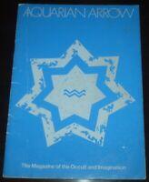 AQUARIAN ARROW, ISSUE No 5, MAGAZINE OF THE OCCULT & IMAGINATION, ZACHARY COX