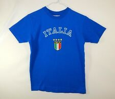 Italia Italy Italian Flag MLS FIFA Soccer Mens Blue T Shirt Size YOUTH MEDIUM