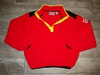 Mens Marlboro Adventure Team Vintage Fleece Sherpa Jacket Red Snap-T 90s Size LG