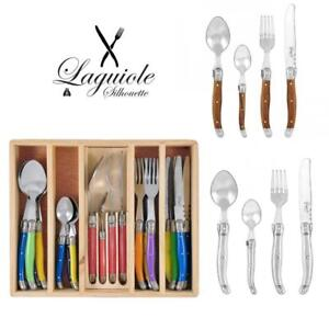 Laguiole Silhouette Cutlery Set 24 pcs Stainless Steel 430 Inox Dinner Bulk Gift