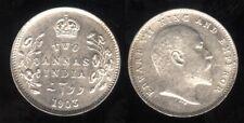 British India1903 C Edward 7 Silver 2 Anna coin toned EF-AU  RARE