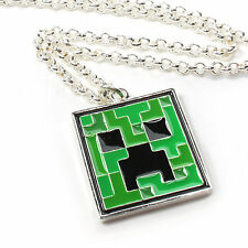 Minecraft OFFICIAL Creeper Metal Enamel Pendant Necklace Neck Chain