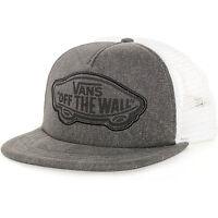 New Vans Beach Girl Washed Black Gray Snapback Trucker Hat Cap