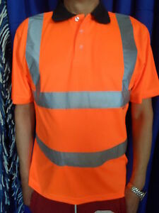 Hi Vis Orange Polo Shirt Conforms to EN471 Class 2 and Rail-track GO/RT 3279