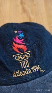 Vintage Atlanta 1996 Olympic Games Blue Embroidered Logo Snapback Hat Cap