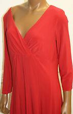 Ralph Lauren Dress Red V neck Flattering Fit Nice lines Poppy Size 2