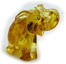 Figurine Elephant Real Amber from the Baltic Sea Carved Handmade New Qualität