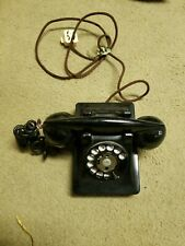 Vintage Black Rotary Table Top Telephone Western Electric