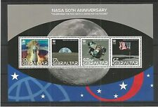 GIBRALTAR 2008 50TH ANNIV OF N.A.S.A MINISHEET SG,MS1291 U/MM N/H LOT 3865A
