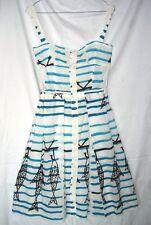 PRADA Sommer KLEID Dress 50er Italien Retro Vintage Stil Gr 40 = 34 / 36 maritim