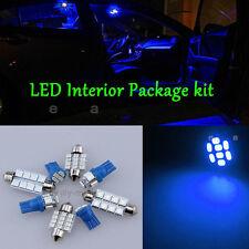 Pure Blue Light Bulb SMD Interior LED Package 8pc  Kit For Honda Civic 2013-2015