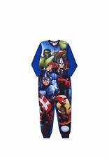 NEW Marvel Avengers Boys Blue Fleece One Piece, Sleepsuit, Pyjamas - Age  5-6