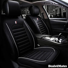 Audi A3 A4 Black Black Comfortable Leatherette Luxury Soft Front Car Seat Covers
